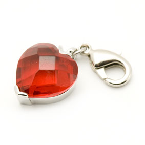 Charm  rotes Herz