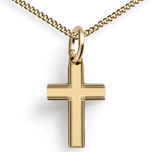 Kleine Edle Kreuzkette 333er Gold Mit Kette Kaufen Im