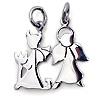 925er Silber Freundschaftskette Engel und Teufel mit Ketten