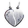 Freundschaftsanhänger LOVE mit Ketten 925er Silber
