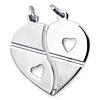 925er Silber Freundschaftskette Herz mit Ketten