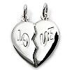 Silber Partnerkette Love mit Ketten