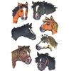 Kindertattoos Set Pferdeköpfe