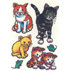 Kindertattoos Set Katzen