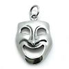 Kinderschmuck Halskette Maske mit Kette Silber