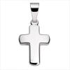 Anhänger Kreuz glänzend poliert mit Kette Silber