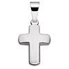 Anhänger Kreuz matt poliert mit Kette Silber