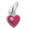 Kinderschmuck Halskette Herz rosa Stein mit Kette Silber