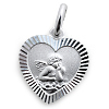 Kinderschmuck Halskette Schutzengel / Herz mit Kette in Silber