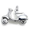 Kinderschmuck Halskette Vespa / Motorroller mit Kette Silber