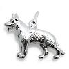 Kinderschmuck Halskette Schäferhund mit Kette Silber
