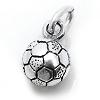 Kinderschmuck Halskette Fußball oxydiert mit Kette Silber