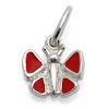 Kinderschmuckroter Schmetterling mit Kette Silber