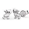 Kinder Ohrstecker niedliche Katzen Silber