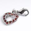 Charm Kinderschmuck Herz mit roten Steinen