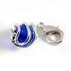 Charm Kinderschmuck Kugel blau mit Verzierung