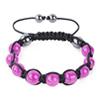 Shamballa Armband Glasperlen Hämatit pink
