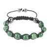 Shamballa Armband Glasperlen Hämatit grün
