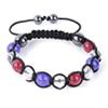 Shamballa Armband Glasperlen rot/lila/kristall