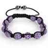 Shamballa Armband Hämatit Kristall lila