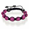 Shamballa Armband Hämatit Kristall pink