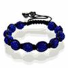 Shamballa Armband Hämatit Kristall dunkelblau