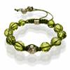 Shamballa Armband Glasperlen grün klar