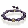 Shamballa Armband Glasperlen lila klar